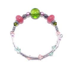 Layering Bracelet, Rose Quartz Bracelet, Delicate Bracelet, Green Stacking Bangle, Expandable Bangle, One Wrap Bangle