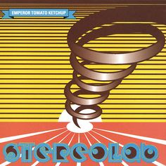 """Stereolab: """"Emperor Tomato Ketchup"""", bought on glittery yellow vinyl. This is a well-loved classic record, but more specifically it brings back a bustling optimistic early spring in Brighton, and a burgeoning romance.we think of it as """"our album"""". Ketchup, Lp Vinyl, Vinyl Records, Vinyl Cover, Alternative Music Bands, Cool Album Covers, Music Covers, Best Albums, Emperor"""
