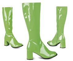 Hippie Retro Stiefel grün 70er Jahre