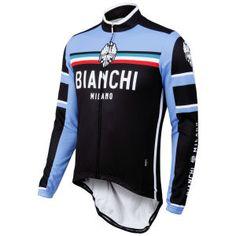 Bianchi Men s Bivona Performance Long Sleeve Jersey - Black  Image 1 Cycling  Wear 7cca515e3