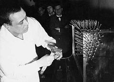 Günther Uecker: Nail performance with a Piano, 1964.