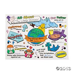 """Color Your Own All About The Lords Prayer Posters - Extra """"craft"""" for prek/k/1?"""