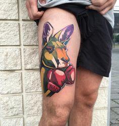 Matej Martius neo traditional tattoo татуировки в стиле неотрад #inkpplcom #inkedpeople #tattoo #tattoos #neotraditional #neotrad #newschool #tattooartist #boxer #illustration