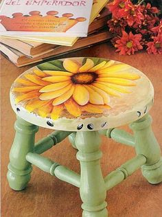 Best Diy Painted Chair Designs Ideas (For Your Inspiration) - Diyandart Hand Painted Chairs, Painted Stools, Funky Painted Furniture, Decoupage Furniture, Chalk Paint Furniture, Refurbished Furniture, Recycled Furniture, Rustic Furniture, Diy Furniture
