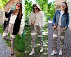 3 ways to wear: die Printhose