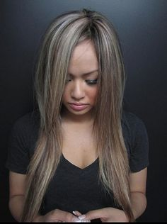 ash brown lowlights and ash blonde highlights - Google Search