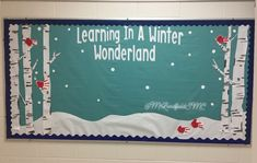 Winter bulletin board for Kindergartener work to be added to!