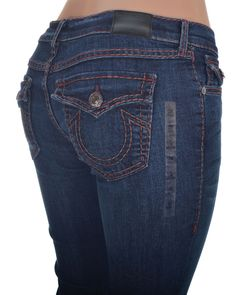 True Religion Womens Jeans Size 28 Flap pocket Straight Cora Super T NWT $338 #TrueReligion #StraightLeg