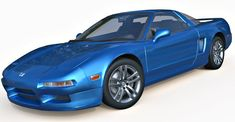 Honda NSX 3d model. High quality polygonal model, for architectural rendering and animation.