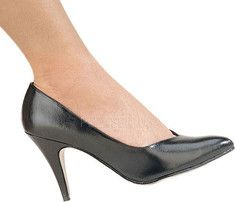 Pleaser Dream 420W - Silver PU with FREE Shipping & Returns. This classic pump features a 4 inch heel and pointed toe.