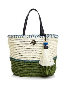 Tory Burch Small Straw Tote | Bloomingdale's