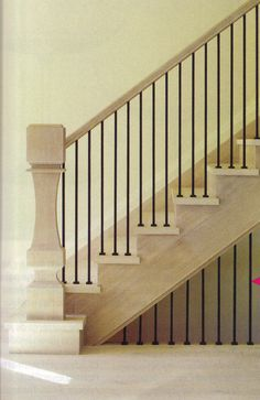 see how boring the all plain balusters look here?  I like the alternating design we picked out