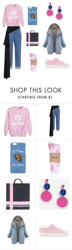 """Casual outfit"" by alishaxd ❤ liked on Polyvore featuring Astro, Gucci, HUF, Topshop and Givenchy"
