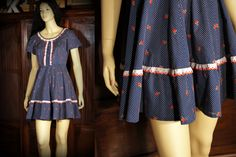 Vintage dolly lolita hippie dotted swiss mini all you need is a lollipop sm/med by SashaShoppe on Etsy