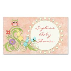 Whimsical Cute Owls Tree of Life Heart Leaf Swirls Business Card Template