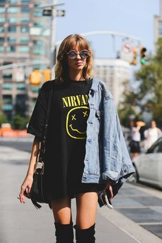 There's a shift happening in street style — while it used to be about doing the most, it's now about not looking like you tried.