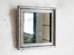 Silver Square Mirror, Vintage Frame.
