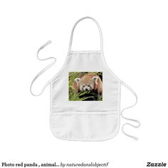 Shop Photo red panda , animals kids' apron created by naturedanslobjectif. Funny Aprons, Cute Aprons, Red Panda, Panda Bear, Most Endangered Animals, Shop Apron, Kids Apron, Painting For Kids, Coloring For Kids