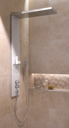 HSK douchepaneel Lavida Wall Bathroom Designs, Bathroom Interior Design, Bathroom Ideas, Ideas Para, Spa, Bathtub, Mirror, House, Furniture