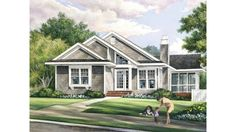 Craftsman House Plan with 1504 Square Feet and 3 Bedrooms from Dream Home Source | House Plan Code DHSW075751