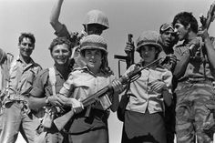 Israeli troops celebrate their victory in the Six-Day War, June 1967. The legacy of the war would reverberate into the 21st century, with all calls for a peace with the Palestinians referring to Israel's pre-1967 borders.