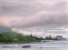 Plein air watercolor paintings by Emily Miller