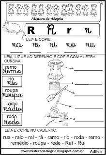 Atividade em forma de Livro das Famílias Silábicas .  Este método facilita o aprendizado de fixar as sílabas. Facilitando que o aluno crie o...