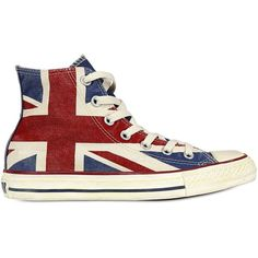 CONVERSE Uk Flag Distressed Canvas Sneakers found on Polyvore Canvas  Sneakers 6b0f379bc8