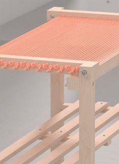 Yoyuu - Optimistic surfaces - No.9 - Cord Display Table. 215 x 60 x 95