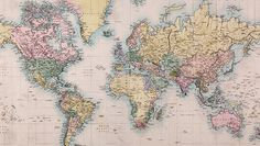 Vintage Map World Map Wall Mural World Map Wallpaper, Photo Wallpaper, Wall Wallpaper, Antique World Map, Old World Maps, Maps For Kids, World Map Poster, Projection Mapping, Vintage Maps