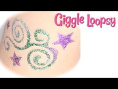 ▶ Glitter Tattoo Tutorial by Giggle Loopsy - YouTube