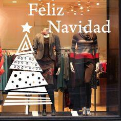 vinilos decorativos de navidad para escaparates. Especial decoración navideña
