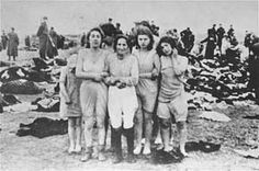 Stripped naked Jewish women before being shot down on a beach in Liepaja, Latvia Latvia's SD (Security Service) and police 15. December 1941