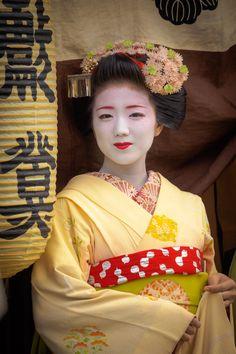 勝奈 舞妓 maiko ずいき祭 上七軒 KYOTO JAPAN
