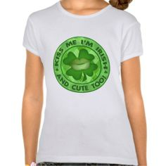 St. Patricks Day Cute Irish Kiss Me T-Shirt   #StPatricksDay #Cute #Irish #T-Shirt #zazzle #jamiecreates1