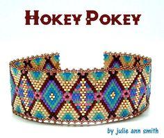 HOKEY POKEY Bracelet Beading Pattern by Julie Ann Smith at Bead-Patterns.com