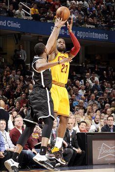 LeBron shoots 3/18/2015 vs the Brooklyn Nets. Cavs won 117 to 92!!!