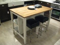 Kitchen island and dining table for two. IKEA STENSTORP $379