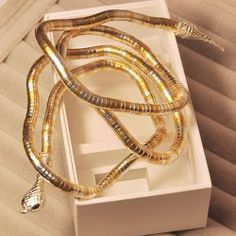$2.82 Characteristic Exaggerated Twining Snake Shaped Alloy Bracelet For Women