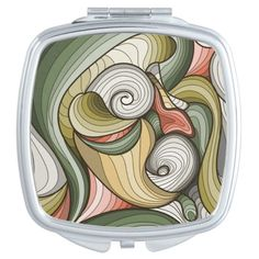 Abstract pattern mirror for makeup