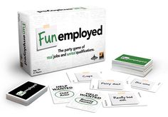 "DO NOT GIVE THIS TO YOUR KIDS BEFORE YOU GO THROUGH IT. Funemployed is an amazing game for spectrum kids, requiring them to take turns as a boss looking to fill job openings like ""Inspirational Speaker"" or ""Super Hero"". You need to be quick thinking, creative, and more than a bit of a ham to explain why an ""Online Degree"" and ""Spangly Jumpsuit"" make you worthy. BUT it also has cards like ""S&M"" and ""Pimp"" - just go through the deck first and teach the skills and gameplay before inviting…"