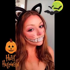 12 last minute easy halloween makeup ideas you can do yourself 12 last minute easy halloween makeup ideas you can do yourself pinterest cat makeup tutorial cheshire cat makeup and easy halloween makeup solutioingenieria Images