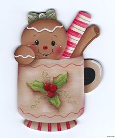 HP GINGERBREAD Christmas Cup FRIDGE MAGNET
