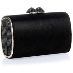 Jimmy Choo Minicharm black shimmer suede clutch ($775) ❤ liked on Polyvore featuring bags, handbags, clutches, bolsas, purses, bolsos, special occasion handbags, suede handbags, evening clutches and clasp purse