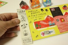 Tiny Houses Post Card Set by mogutakahashi on Etsy