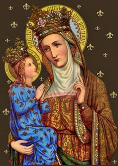 Saint Anne with Mary - Patron of Housewives and Mothers - Grandmothers - Archival Print - Catholic Art Catholic Crafts, Catholic Art, Catholic Quotes, St Anne, Blessed Mother Mary, Blessed Virgin Mary, Vintage Holy Cards, Vintage Images, Saint Joachim