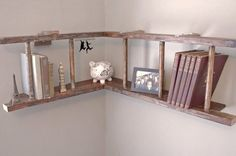 Creative ideas how you can use ordinary old wooden ladder as pieces of furniture or as part of the decor in your home