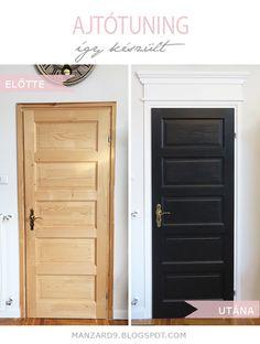 DIY Door Makeover I Ajtó alakítás - festéssel, párkánymagasítással - így készült leírás *Manzard9