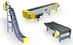 Variations of special steel belt chain conveyor systems