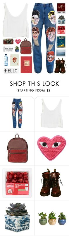 """""""we're only alive if we bruise - bye? for now?"""" by softenedpressures ❤ liked on Polyvore featuring Ashish, MINKPINK, Park House, Polaroid, Leica, Gatsby, Dr. Martens, OKA, Børn and Rosanna"""